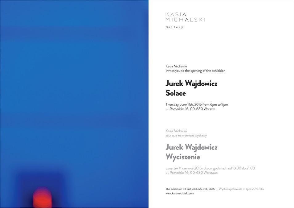 Jurek Wajdowicz Solace Exhibition in Warsaw